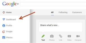 google+ dashboard analytics