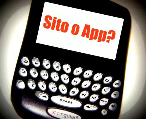 Sito mobile friendly o applicazione per device mobili for Sito mobili